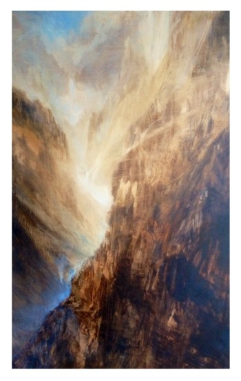 View down the Canyon, oil, 80x120cm