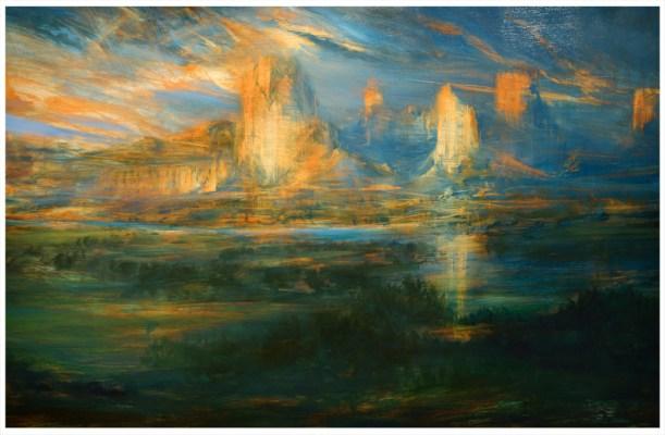 'Green River Nightfall' Oil 6ftx4ft