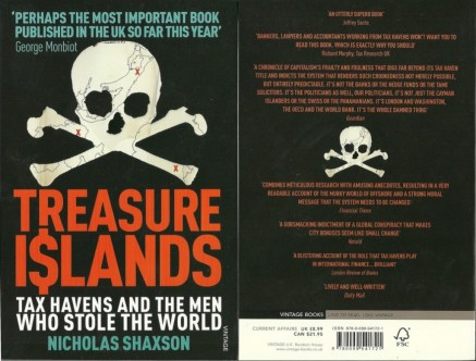 Tax Havens Treasure Islands book cover