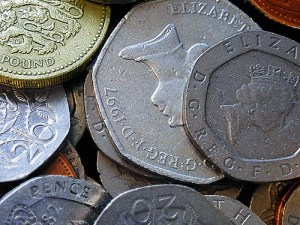 British pennies & pounds