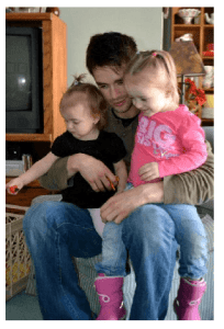 Sgt Casey Gray and his children