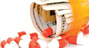 pills cash bottle