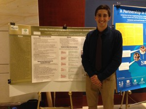 George Mason University student Tyler Fabian with his poster at the 2015 Capitol Hill Poster Session