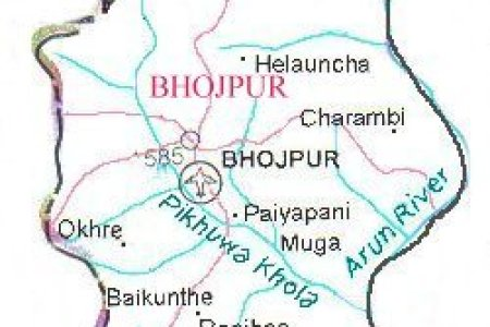 map of nepal district map of bhojpur