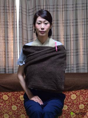 三角巾-巻き方バスタオル