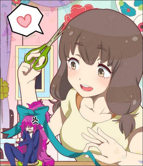 Hajime embête Katze, un fanart de Nafuda