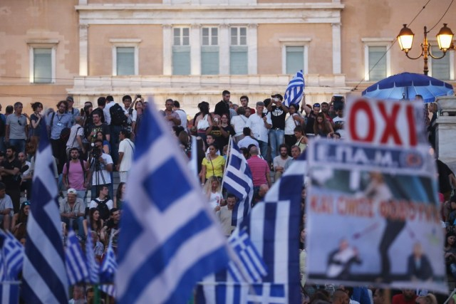 Protesters gather in Athens