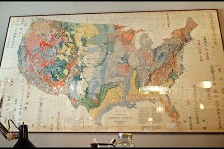 large framed map of the united states   antiques and interiors