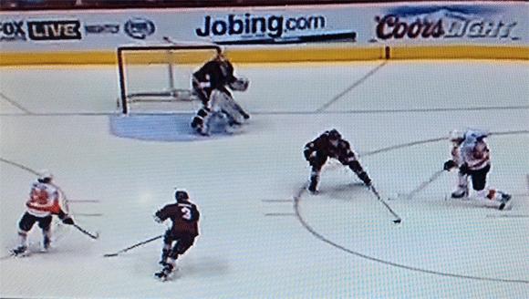 Voracek shoots the game winning goal