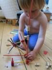 Tinker Toy type construction set.