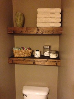 Natural This Was A Very Project That Added A Lot Depth To My Reclaimed Pallet Wood Diy Floating Bathroom Shelves Diy At Needles Tiny Bathroom Shelf Mini Glass Bathroom Shelf Ction