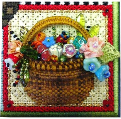 Final Bead Flower Basket