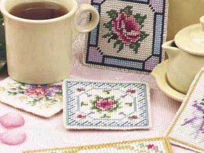 Plastic Canvas Pattern – Vintage Victorian Coasters
