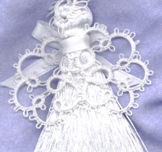 How To Add Tatting To A Tassel To Make An Angel