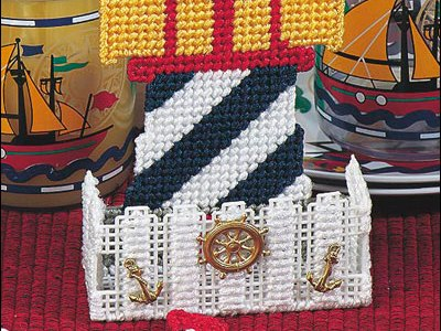 Plastic Canvas – Lighthouse Coaster Set