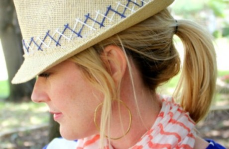 DIY Embroidered Fedora