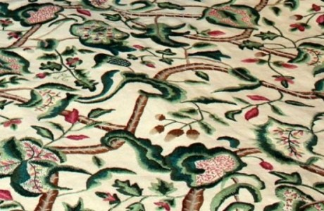Ladies Repair Century Old Bedspread For The National Trust