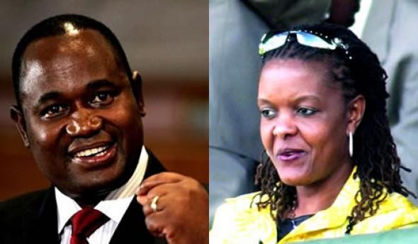 Gideon Gono and Grace Mugabe