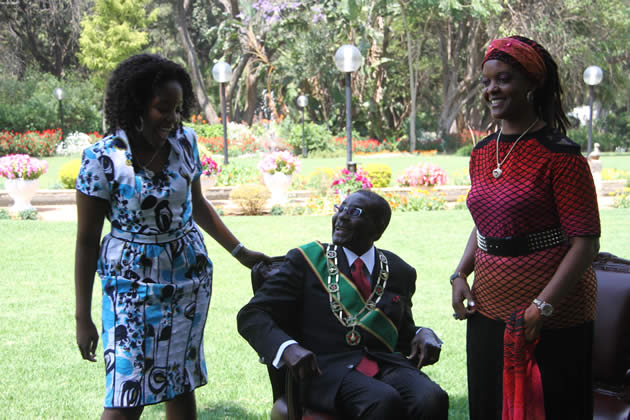 Bona Mugabe with her parents at State House