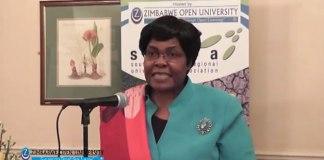 Zimbabwe Open University (Zou) Vice-Chancellor Professor Primrose Kurasha