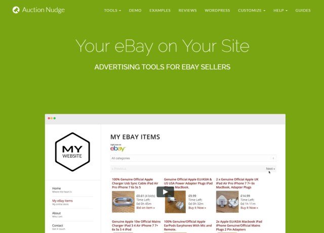 Auction Nudge EBay website design ilfracombe by neilsbuildingsites ecommerce