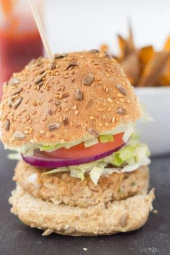 Quick Healthy Tuna Burgers