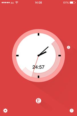 ポモドーロテクニックのためのシンプルなiPhoneアプリ「Flat Tomato」