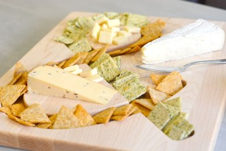 cheese and crackers board