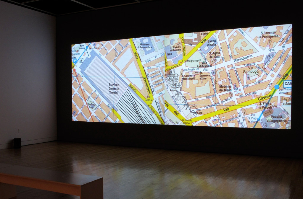 NELSON HENRICKS      Map of the City   2006     Map of the City projection 1  ellen gallery