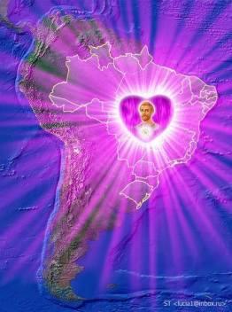 Resultado de imagem para imagens da chama violeta purifica o Brasil