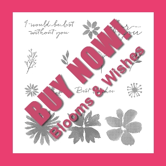 Blooms & Wishes stamp set