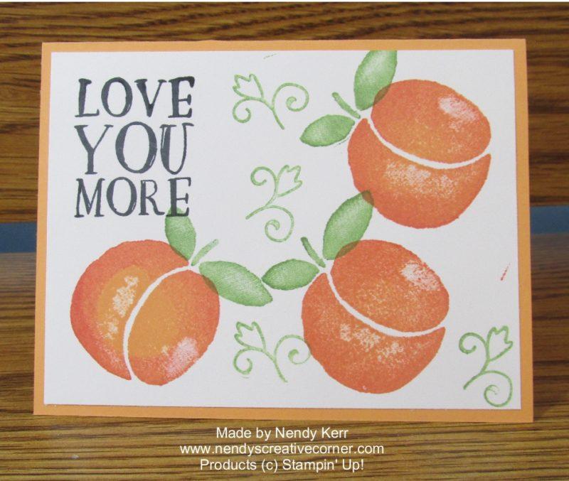 Fresh Fruit Peach Card