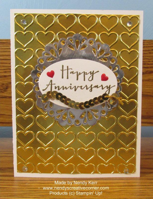 Gold  Silver Anniversary Card