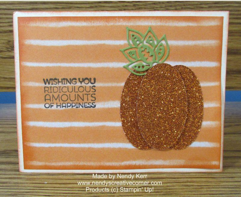 Glimmer Punch Art Pumpkin Card