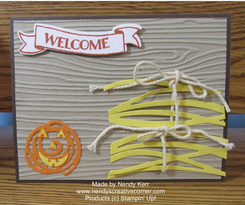 Pumpkin and Hay Card