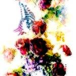 花と蝶(2パターン)