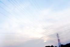 空と鉄塔の写真素材