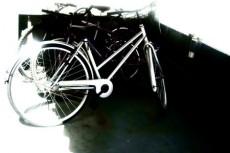 自転車置き場の写真素材