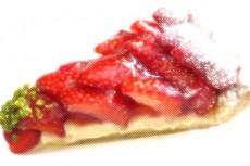 イチゴのタルトの写真素材