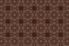 褪せた色合いの花柄の幾何学模様(4パターン)