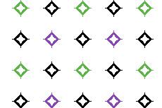 ポップな雰囲気の中抜きダイヤ柄(透過GIF)(8パターン)
