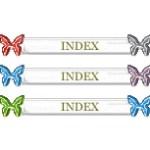 ガラスのような質感の蝶のメニューボタン(透過GIF)(6パターン)