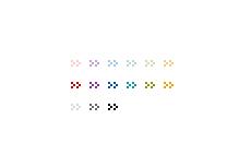 くの字型が連なる矢印(透過GIF)(4パターン)