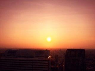 【高解像度】新宿の夕焼け