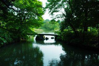 【高解像度】六義園の渡月橋(3パターン)