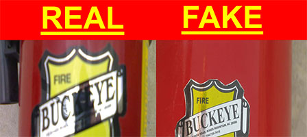 Counterfeit Buckeye Brand Fire Extinguishers