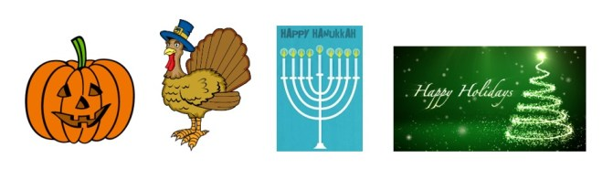 Gluten Free Holiday Tips: Halloween, Thanksgiving, Hanukah, Christmas