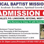 Admission Open at Evangelical Baptist Mission School