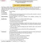 Vacancy announcement at Nepal Ebenezer Bible College