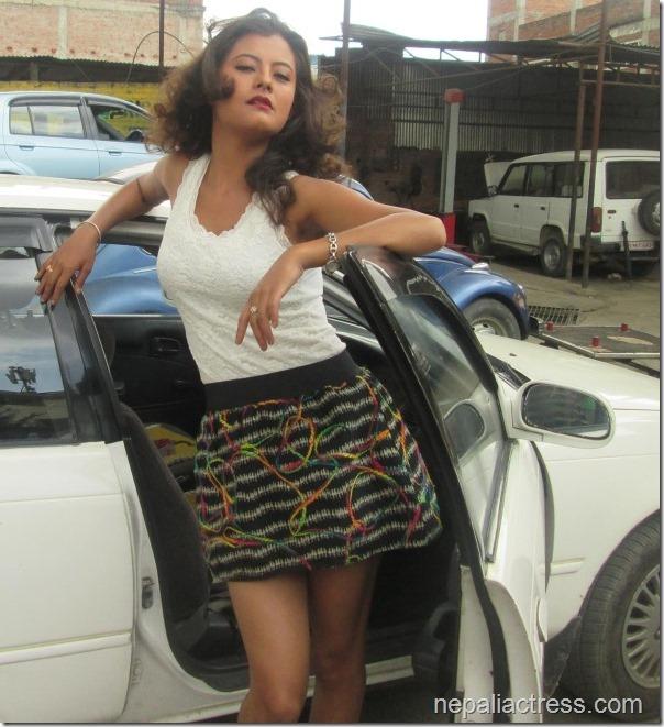 Sushma Karki car pose 1